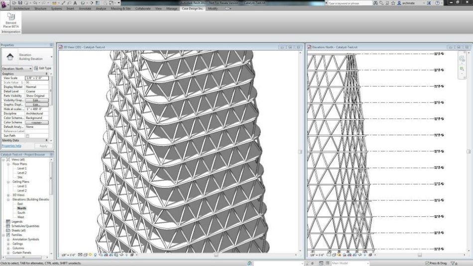 Parametric Tower Model in Revit
