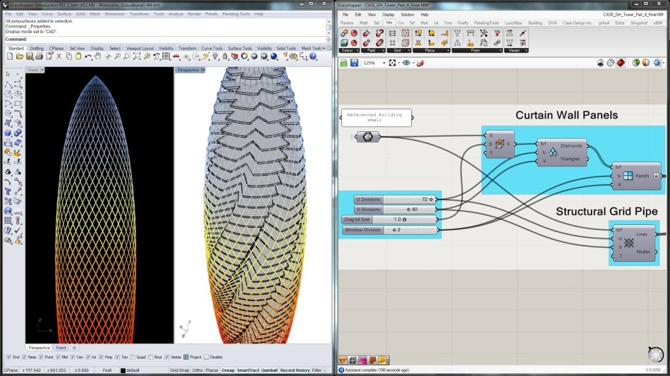 Using Grasshopper to define parametric building systems for iteration